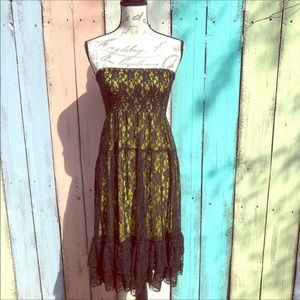 Black Lace Convertible Sundress Size Medium